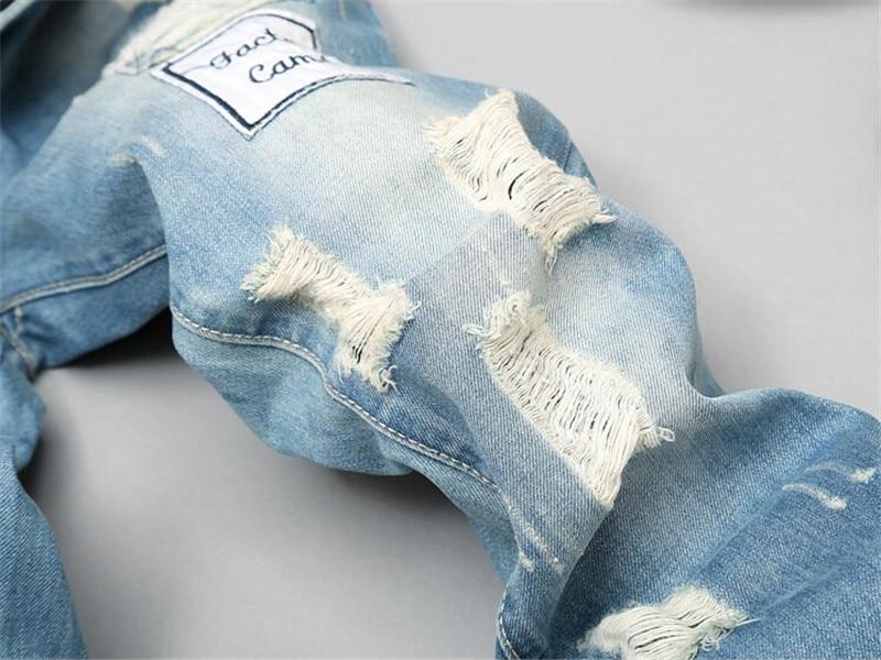 Patch Designer Տղամարդկանց ջինսեր Biker ջինս - Տղամարդկանց հագուստ - Լուսանկար 5