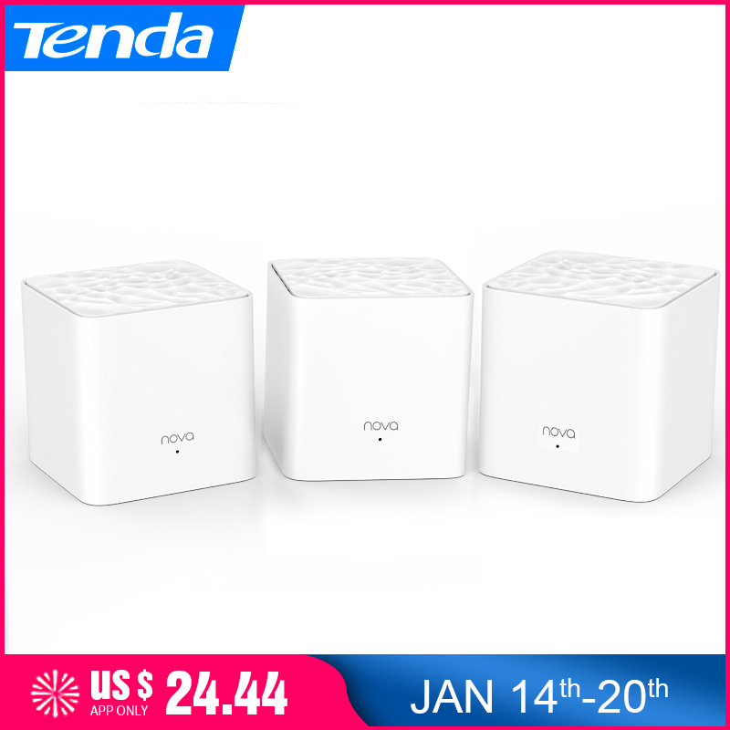 Tenda Nova MW3 AC1200 2.4Ghz/5.0Ghz Dual Band Whole Home Mesh Wifi System Wireless Router WiFi Repeater Bridge,APP Remote Manage(China)