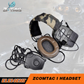 Z-tactical Headset Airsoft Z054 combat Comtac I Tactical noise reduction headset with peltor Z112 PTT