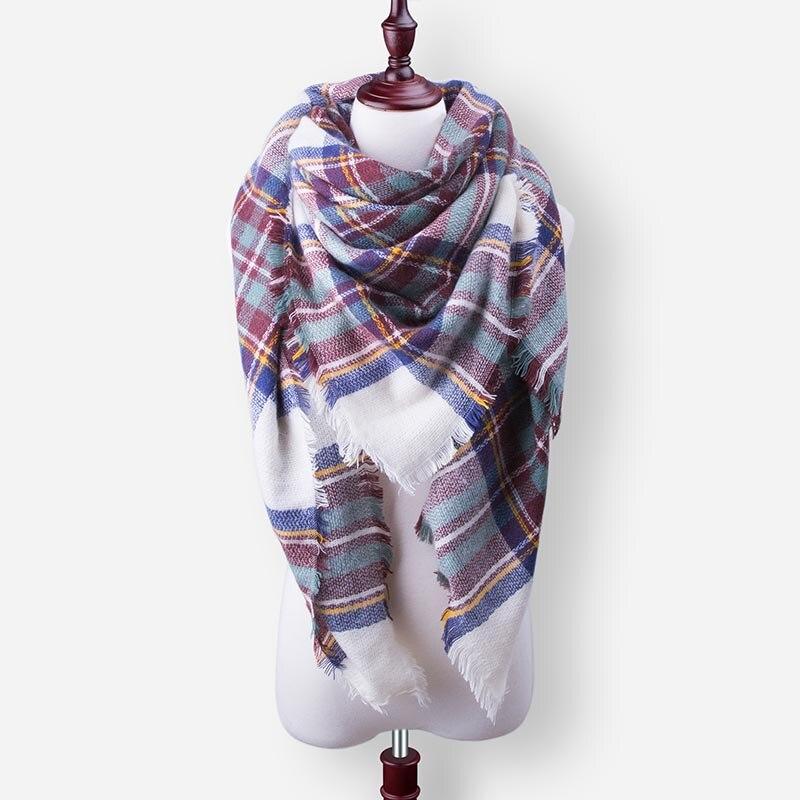 Бренд Evrfelan, шарфы, Прямая поставка, женский зимний шарф, высокое качество, плед, одеяло, шарф и шаль, большой размер, плотные шарфы, шали - Цвет: W23