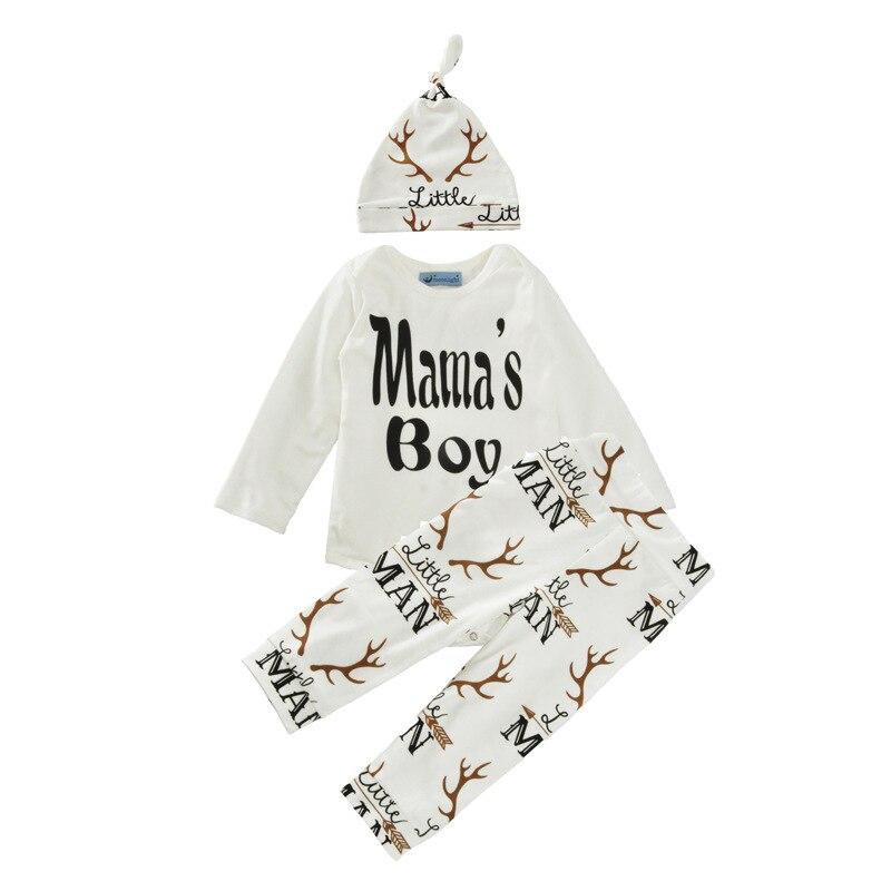 Mama\'s Niño/bebé traje set/hat + romper + leggings set/deer patrón ...