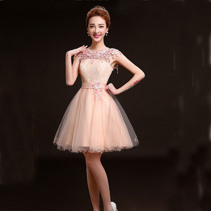Popular Peach Cocktail Dress-Buy Cheap Peach Cocktail Dress lots ...