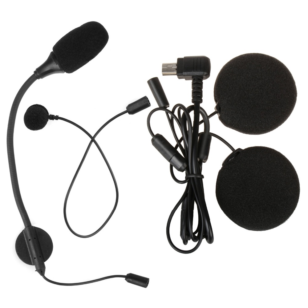 M1-S Intercom Accessories Microphone with Headphone Earphone only suitable for M1-S Motorcycle Helmet Bluetooth Headset Intercom