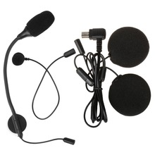 M1-S Intercom Accessories Microphone with Headphone Earphone only suitable for M1-S Motorcycle Helmet Bluetooth Headset Intercom цена и фото