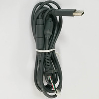 50 PCS Wired Controller Maniglia Cavo di Interfaccia 2.8 M 4Pin di Collegamento Linea di Riparazione Per XBOX 360 360 controller Nero Grigio USB cavo