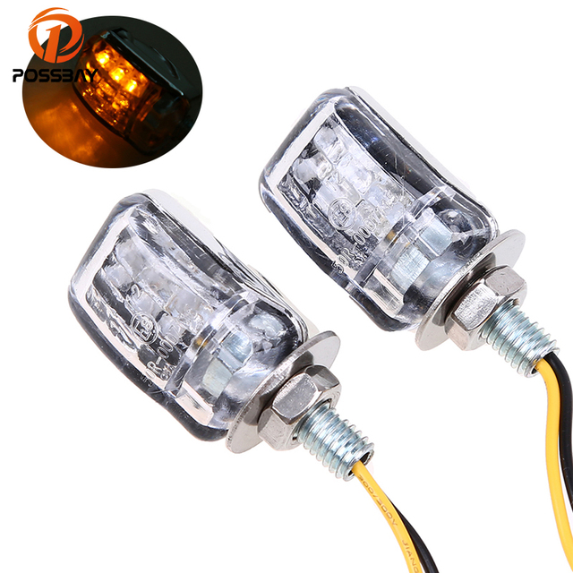 US $7 79 40% OFF POSSBAY Motorcycle LED Turn Signals Light Scooter Flasher  Universal for Yamaha Harley Suzuki Bandit 600 Sportster Off Road Light on