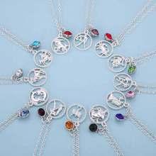 My shape 12 знаков зодиака ювелирные изделия круглые Чокеры ожерелье для женщин красивые аксессуары подарок на день рождения астрологическое Созвездие
