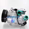 R134a 6PK VS18M Auto air conditioning compressor for Hyundai Santa Fe with Electronic Control 123.8mm Pulley Diameter