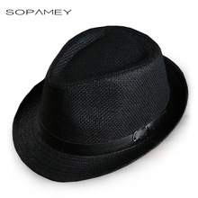 Men's Straw Jazz cap Casual Panama Sun Hats for Men Summer Fashion Beach Hat for Male Fedora Visor Caps for Belt decorated hat