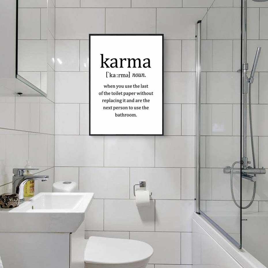 Modern Poster&Print Karma life quotes Canvas Painting  Living Room friends home Wall Art Mural Minimalist Modular Wall Picture