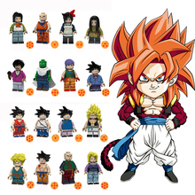 Toys Single-selling superhero dragon ball Son Goku Gohan Vegeta Torankusu Piccolo building block toy for children compatibleJM36