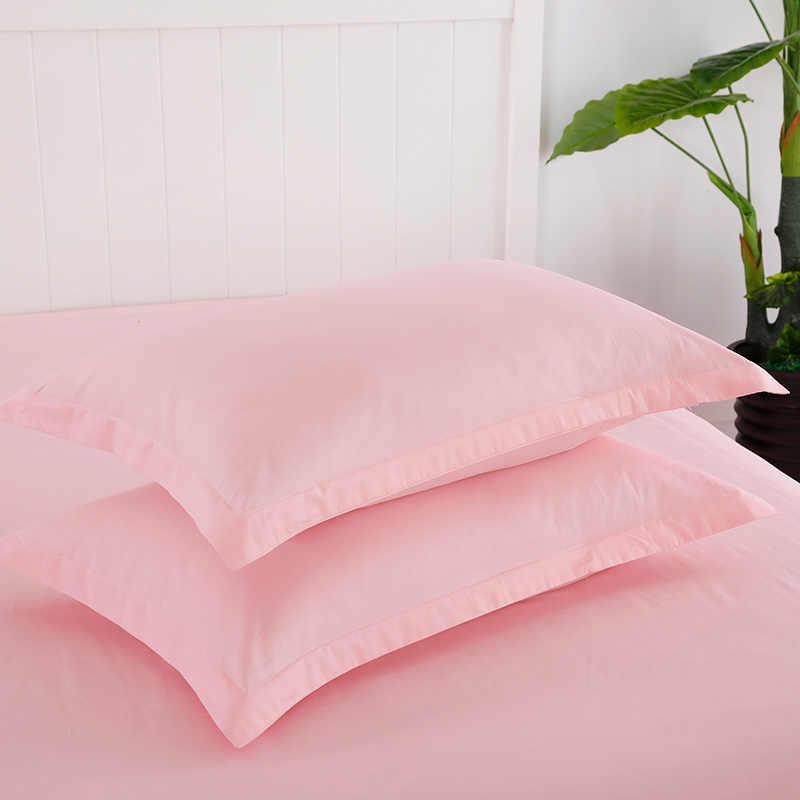 100% القطن غطاء وسادة أبيض 2 قطعة مستطيلة سرير وسادة غطاء بلون المخدة 48*74 سنتيمتر عالية الجودة