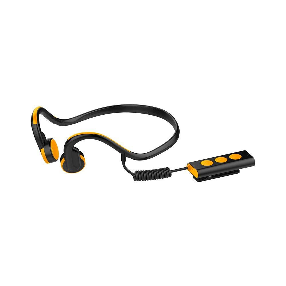 ФОТО Original Portable Bone Guided Headphones Bluetooth 4.1 Stereo Headphones Waterproof Sports Headphones Handsfree w / Microphone
