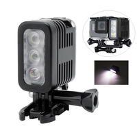Professional Photographic Lighting LED Waterproof Fill Light with Battery Rechargeable 30m Diving Spotlamp for GoPro Hero 3 4 5