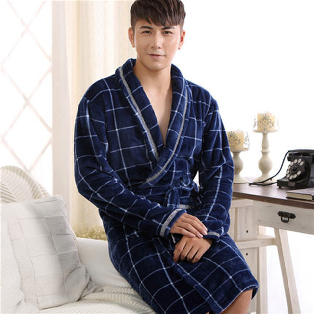 New High quality Robes Autumn winter flannel robes lovers sleepwear fashion warm  bathrobe bathrobes coral fleece aacb040c7