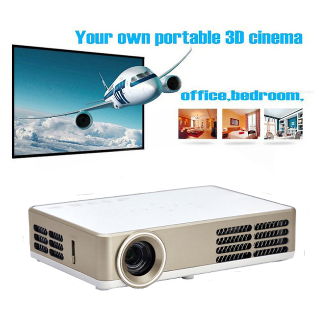 Android 4.4 Wifi Smart Bluetooth mini Micro full hd projector hdmi 1080p 3000Lumens DLP link 3D Pocket Video led proektor beamer