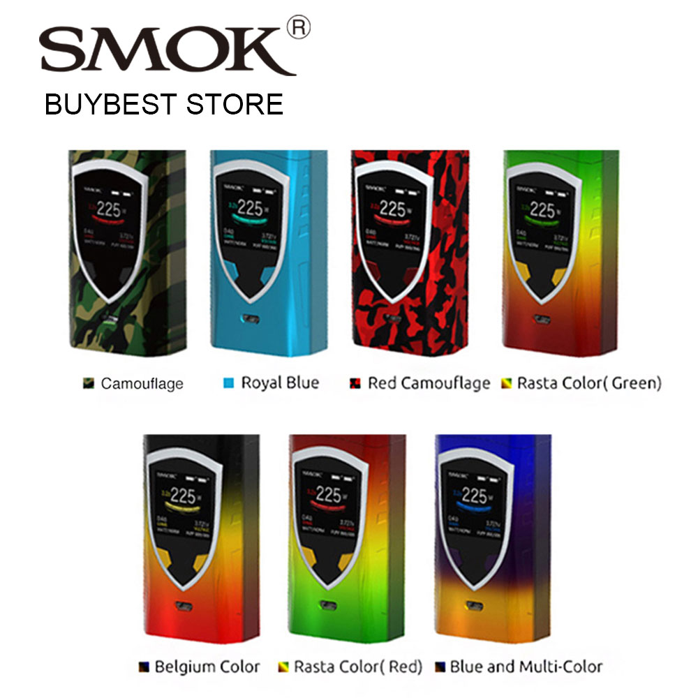 100% Original 225W SMOK ProColor Vape Mod Big Fire Key Support VW/TC/MEMORY Modes No 18650 Battery vs Smok Alien/T-priv Box Mod original lost vape therion bf dna75 75w battery cover