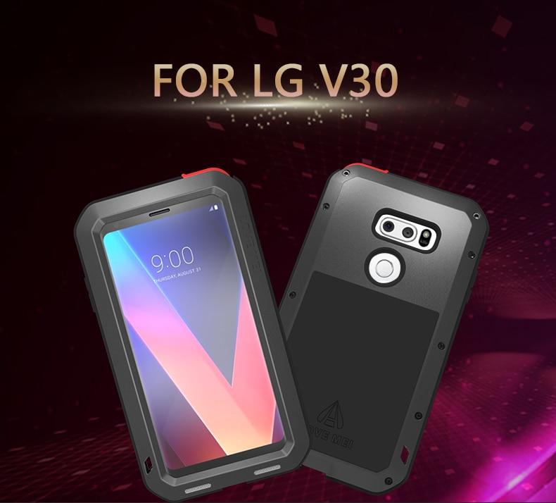 LOVE MEI armure en aluminium puissante en métal pour LG V30 étui résistant aux chocs en Silicone couverture complète du corps pour V30 Fundas Shell Capa