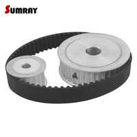 SUMRAY HTD5M Timing Pulley Belt Kit Reduction 1:2 5M 20T 40T Thoothed Belt Pulley 5M-355 TIming Belt 3D Printer Machines Parts