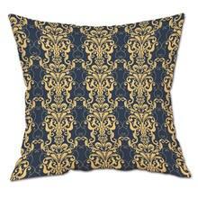 Vintage Flower Pattern Plush Fabric Cotton Cushion Cover for Sofa Bed Nordic Decorative Pillow Case Almofadas 45cm*45cm