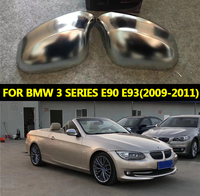 For BMW 3 Series E90 E91 E92 E93 Rearview Side Mirror Cover Caps Housing Matt Silver Replacement 2009 2010 2011