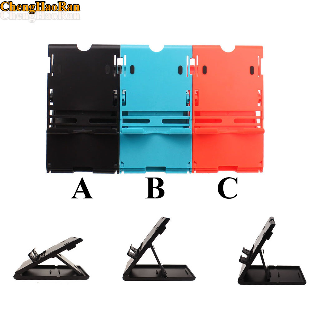 1pc 5pcs 10pcs NS Switch PlayStand Vertical stand clip For Nintendo Switch NS Console Holder black blue red-in Replacement Parts & Accessories from Consumer Electronics