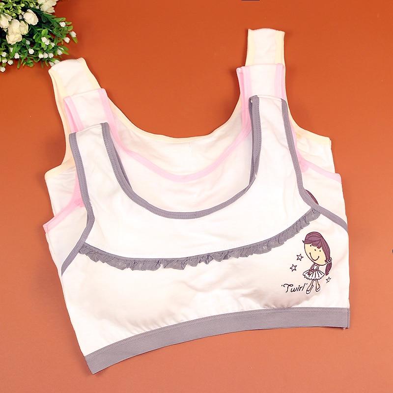 Wholesale Bra Junior High School Students Bra Vest Cotton Cartoon Sports Underwear bra child girls bra