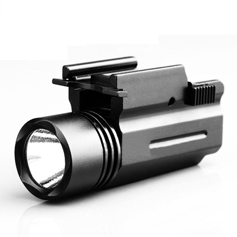 Quick Release Tactical Led Flashlight Cree for Glock 17 19 20 21 22 23 with 20mm Weaver or Picatinny Rail Accessories D