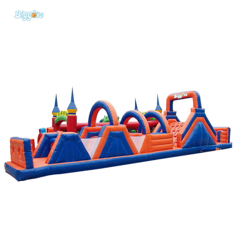 FREE SHIPPING BY SEA Giant  Inflatable Obstacle Course Adult Inflatable Obstacle For Sale commercial sea inflatable blue water slide with pool and arch for kids