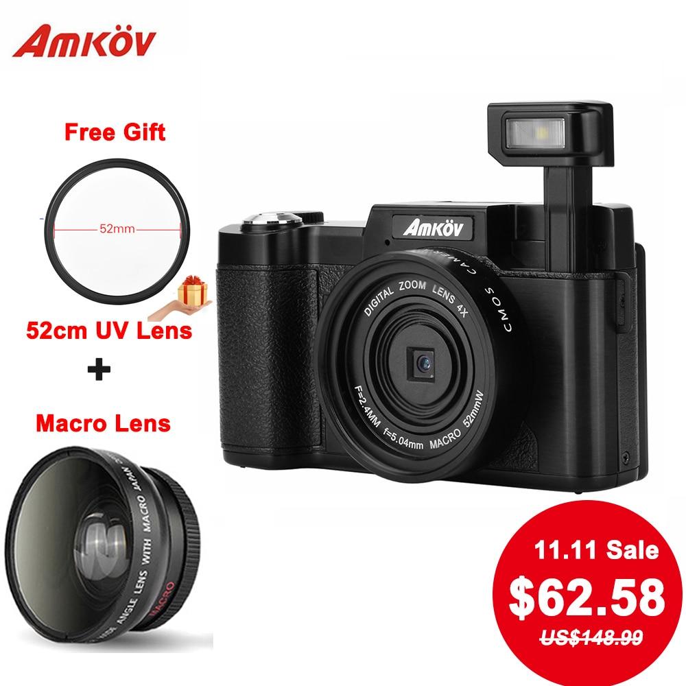 AMKOV CDR2 Digitalkameras 8.0MP CMOS-Profikameras 1080P HD-Camcorder - Kamera und Foto