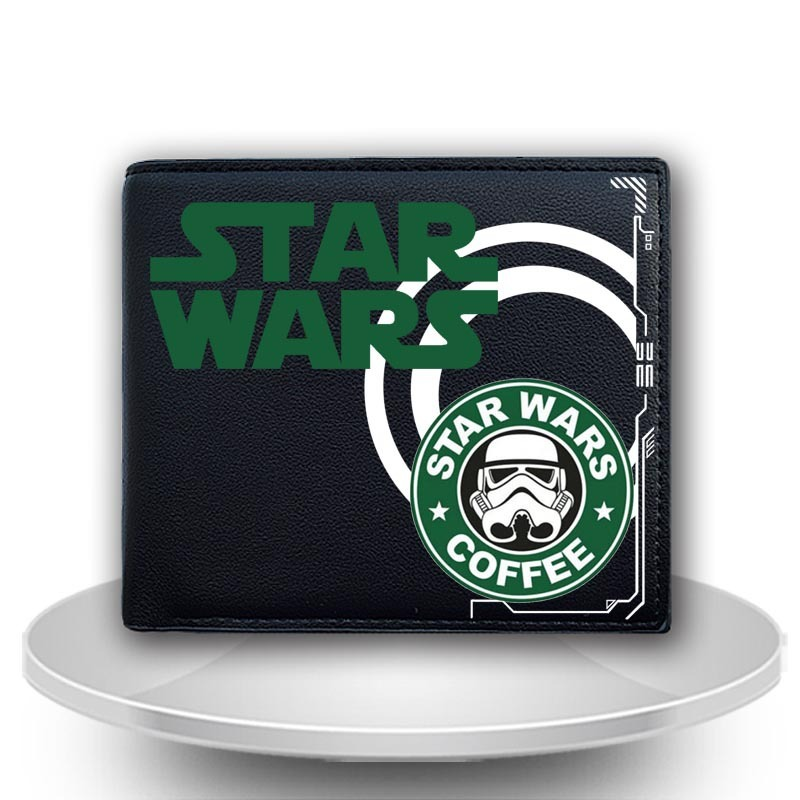 2017 New Star Wars Bifold Wallet Men Cosplay Anime Short Purse Student Boys Girls Leather PU Wallets