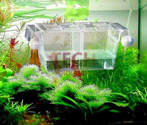 Betta Fish Tank Aquarium DurableFish Boîtes de Reproduction Double À Couver Incubateur Isolement Acrylique Mini Aquarium Réservoirs Durable