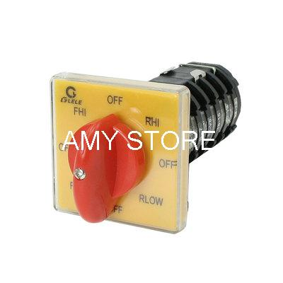 AC 500V 25A Self Locking 8 Position Universal Cam Combination Changeover Switch industry machine control ac 500v 16a 4 position rotary cam changeover switch red