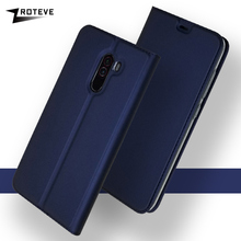Cover For Xiaomi Pocophone F1 Case Luxury Wallet Leather Cases PocoPhone F1 Case Flip Stand Magnetic Cover Poco F1 Phone F1 Case goterfly glass phone case 6 18 inch pocophone f1 painted protective back cover cases xiaomi pocophone f1 caso pocophon poco f1