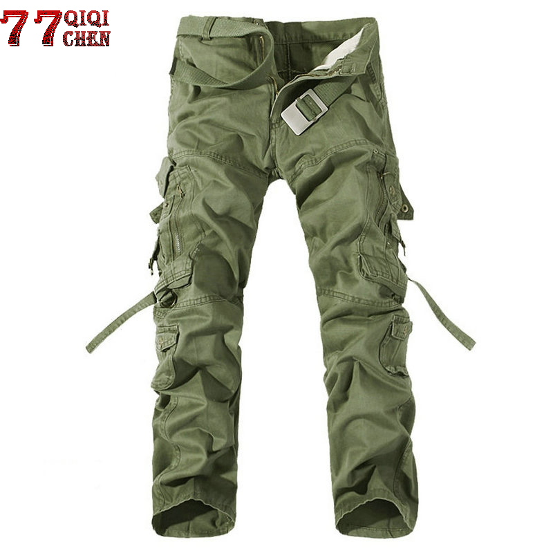 New 2018 Brand Military Cargo Pants Men Multi-Pocket Solid Overall Male Outdoors Long Trousers Men High Quality Tactical Pants