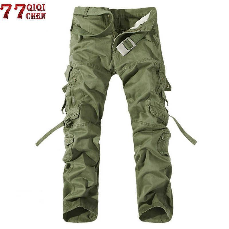 Nowy 2018 marka bojówki wojskowe cargo mężczyźni wielu-kieszeń jednolity ogólnie mężczyzna na zewnątrz długie spodnie męskie wysokiej jakości spodnie taktyczne