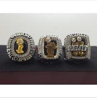 One Set 3 PCS 2006 2012 2013 Miami Heat National Bakstball Championship Ring 10 Size Wade Name