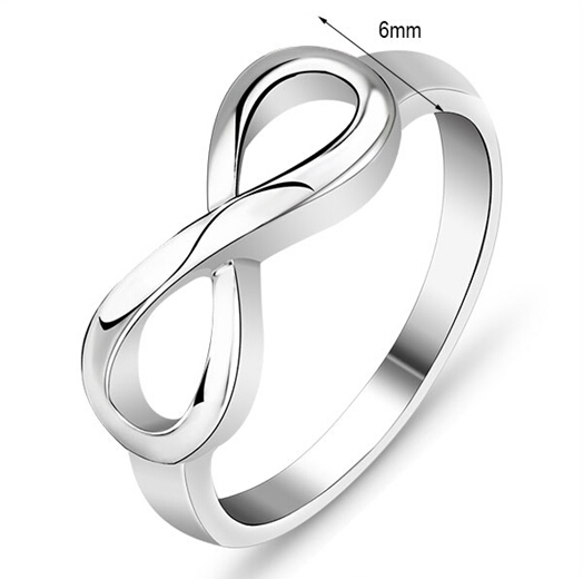 c9c35a70622 US $9.88 |Free Shipping! Fashion Silver Wedding Jewelry 925 Sterling Silver  Infinity Symbol Wedding Ring Love & Friendship Engraved 925-in Wedding ...