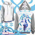 Japanese Anime VOCALOID Hatsune Miku Unisex Winter Casual Hoodie Coat Jacket hooded cosplay TOP