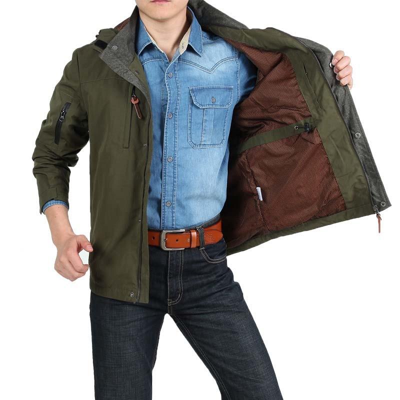 Vestes Décontractée Vert À Mâle Vêtements Nouvelle Printemps Hommes vent Lâche Green kaki Coton Veste Bleu Marque D'affaires Capuchon Automne Coupe army Manteaux 8qxwT7Cq