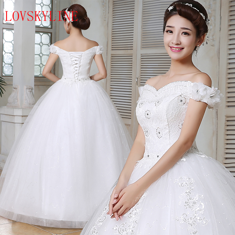 Wedding Gown Korean Style: Wedding Dresses 2017 Perfect Bridal Cap Sleeve Korean