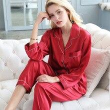 Pure Genuine Silk Pajamas Women Pyjama Sets 100% Pajama Set  for Home Clothes