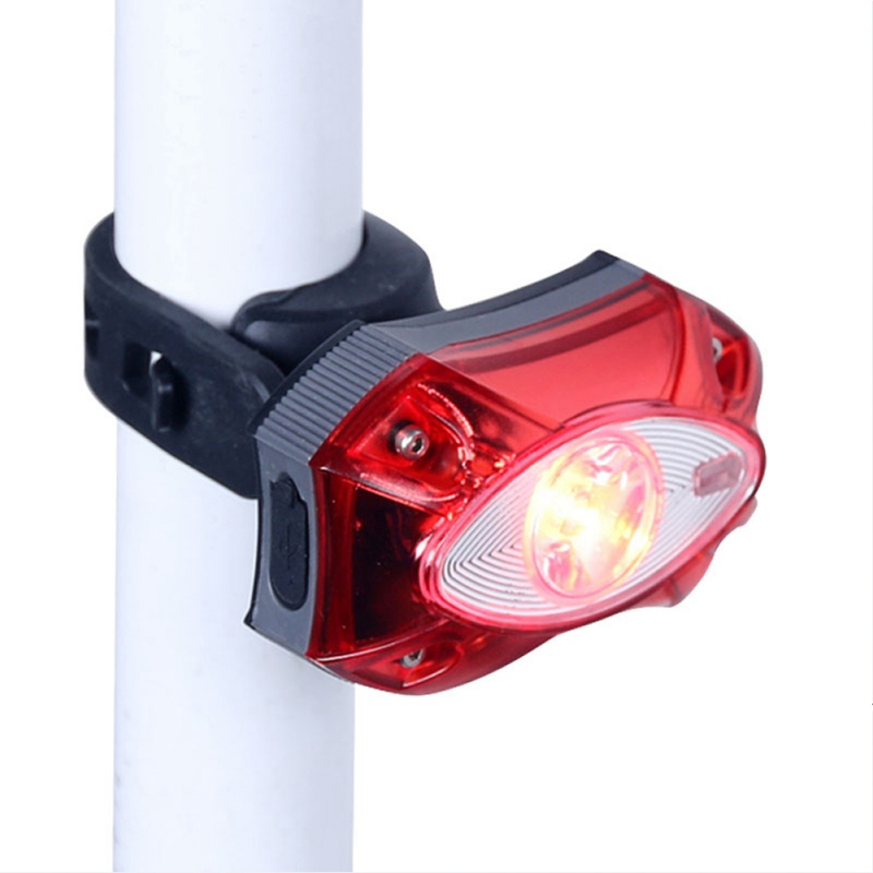 USB Rechargeable Rear Back Light Bicycle Rainwater Water Proof LED Bicycle Safety Light Cycling Bike Tail Lamp taillight(China)