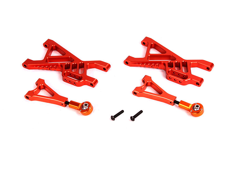 Baja CNC Rear Alloy suspension Arm Set fit for 1/5 RC CAR hpi rovan baja 5b SS ,Upgrade parts rovan cnc metal rear suspension arm set fit hpi baja losi 5ive t parts
