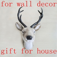 Free Shipping Father Day Present House Decor Wall Hanging Animal Head Wall Decor Deer Head Home