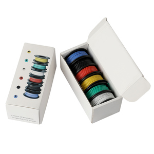 Image 5 - 197ft Electrical Wire UL3132 22AWG Stranded Hook up Wire Tinned Copper 300V Soft Silicone Insulator 6 Colors for DIY Toys Lamp