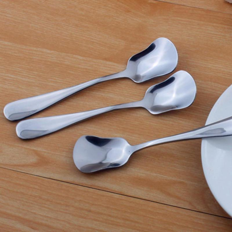 1pc Chic Stainless Steel Ice Cream Spoon small stainless steel teaspoons of yogurt scoop ice cream scoop pudding dessert 5