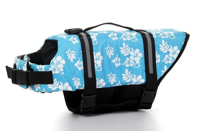 FREE SHIPPING Dog Life Jacket & Dog Life Vest & Pet Life Jacket & Pet Life Vest XS/S/M/L/XL 20PCS/LOT  BLUE HAWAIIAN