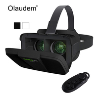 VR Glasses Virtual Reality 3D Headset Google Cardboard VR BOX 2 0 Glass With Bluetooth Controller