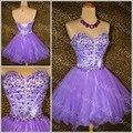 2015 Hot Sell Luxury Knee Length Robe De Cocktail Party Dresses Sweetheart Beaded Crystals Sequins vestido de festa curto